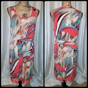 Vera Wang Sleeveless Midi Dress
